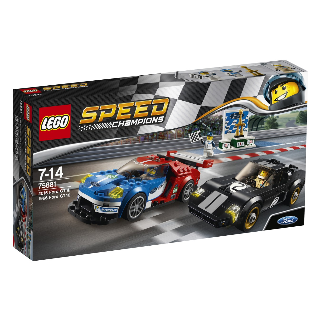 LEGO® Speed Champions 75881 2016 Ford GT & 1966 Ford GT40