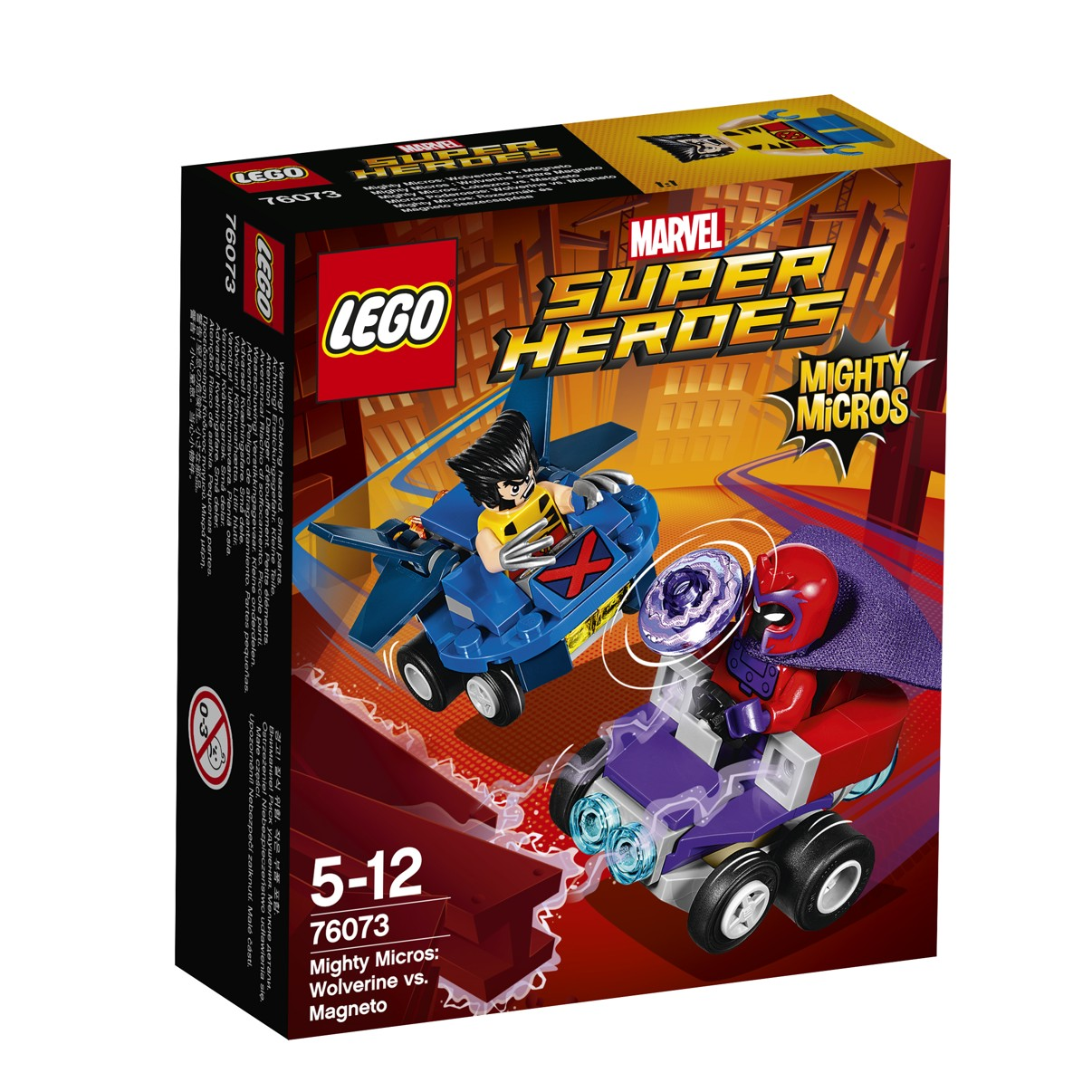 LEGO® Marvel Super Heroes 76073 Mighty Micros: Wolverine vs. Magneto