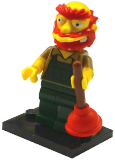 LEGO Minifigurka 71009 The Simpsons 2 - Groundskeeper Willie