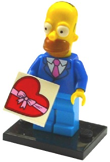 LEGO Minifigurka 71009 The Simpsons 2 - Homer Simpson with Tie and Jacket