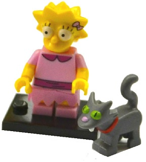 LEGO Minifigurka 71009 The Simpsons 2 - LegoLisa Simpson with Bright Pink Dress