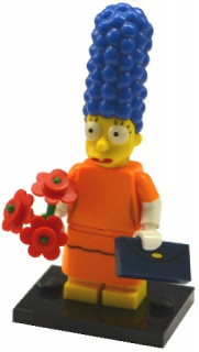 LEGO Minifigurka 71009 The Simpsons 2 - Marge Simpson with Orange Dress