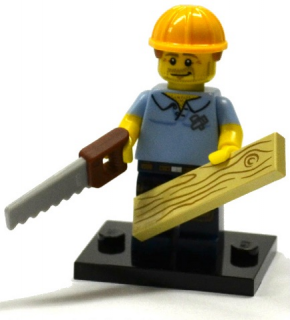LEGO Minifigurky 71013 - 9 - Carpenter