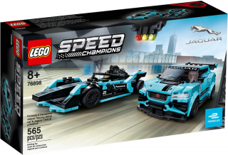 LEGO Speed Champions 76898 Formula E Panasonic Jaguar Racing GEN2 & Jaguar I-PACE eTROPHY
